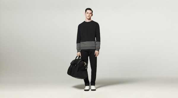 I don't care if this particular outfit it geared toward men. I'd totally wear that sweater. And that bag.