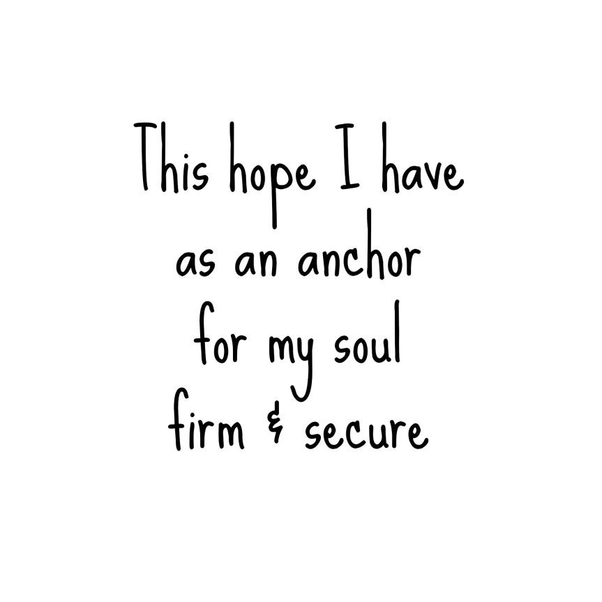 Hope Heb 6 19